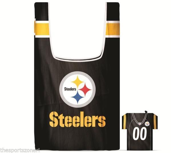Pittsburgh Steelers Shopping Bag In a Pouch #PittsburghSteelers Visit our website for more: www.thesportszoneri.com