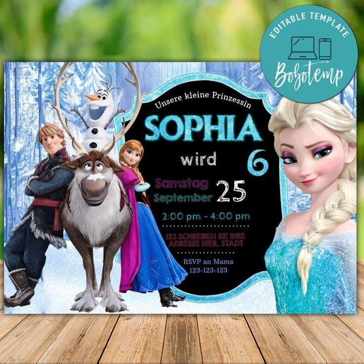 Druckbare Disney Princess Elsa Anna Frozen
