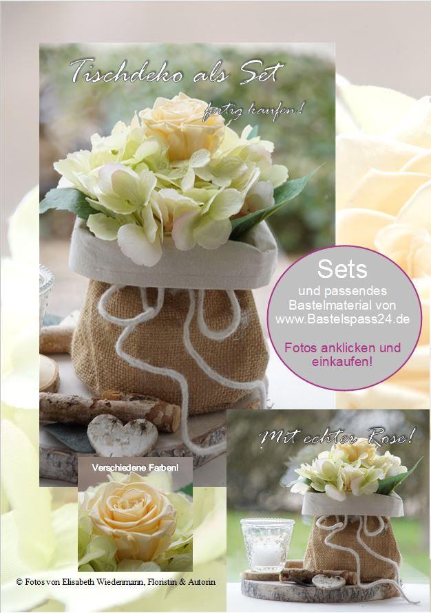 Tischdeko Set Hochzeit Und Feste Bastelspass24 De Floristik Bas In 2020 Tischdeko Sets Tischdeko Hochzeitsanstecker