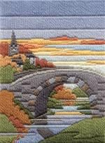 Autumn Evening Long Stitch Kit by Derwentwater Designs from the range 'Seasons in Long Stitch' designed by Rose Swalwell.