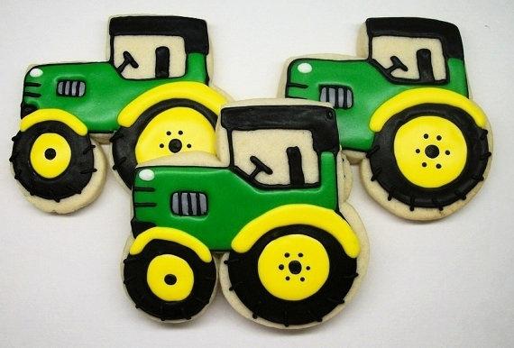 SweetTweets  Tractor Cookies  1 Dozen by SweetTweetsOnline on Etsy, $36.00