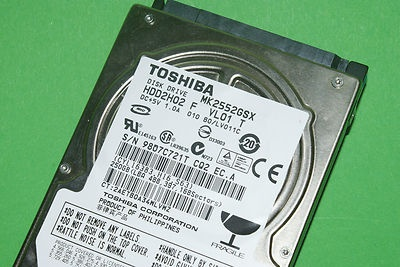 Toshiba HDD2H02 250GB MK2552GSX HP P/N 4806000-001 (eBay Giving Works item)