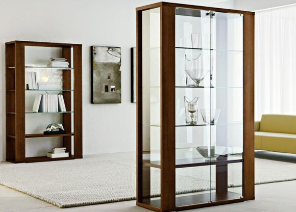 New Modern Wall Curio Cabinet