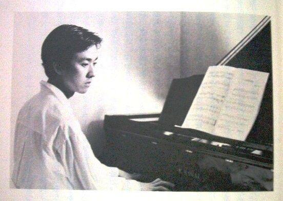 a young Bando Tamasaburo and a piano