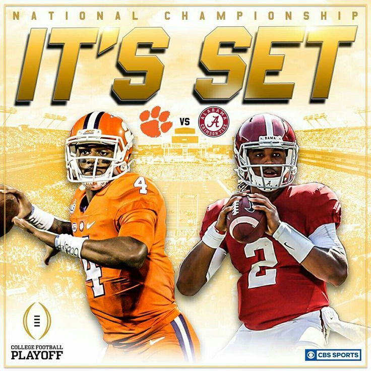 Alabama vs Clemson National Championship