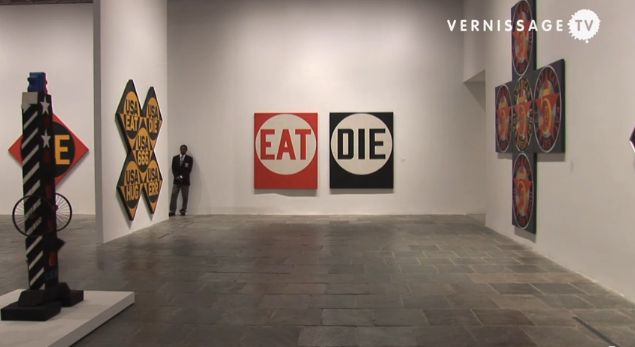 Robert Indiana at Whitney Museum - http://mymagicalattic.blogspot.com/2013/10/robert-indiana-at-whitney-museum.html
