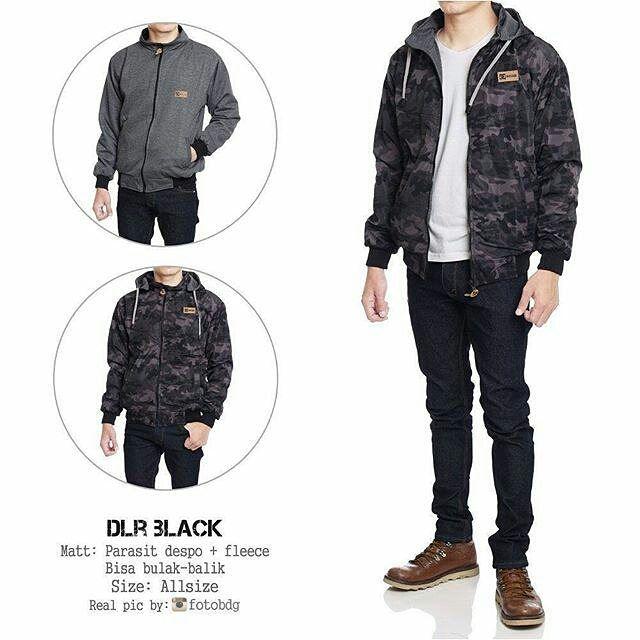 """JAKET COWOK BOLAK-BALIK  Bahan: Parasit despo  fleece. (Bisa dipakai bolak-balik) Ukuran: allsize L cowok kode: """"DLR BLACK"""" . Harga: beli 1= 155.000/pcs. beli 3= 150.000/pcs. (boleh campur dengan sweater yg lain) . Malang READY siap kirim NO COD LINE/BBM/WAcek profile/bio . #sweater #cardigan #jaket #sweatercewek #cardigancewek #jaketcewek #sweatercowok #jaketcowok #rajut #rajuthalus #bajurajut #sweaterrajut #cardiganrajut #new #fashion #design #olshop #malang #olshopmalang #olshopkaos…"""
