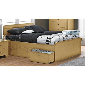 Alcove bennet queen platform bed maple wannnt pinterest products bedding and queen - Bedspreads for platform beds ...