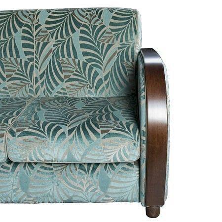 Roaring Twenties Bench, available in different Art Deco fabrics. Available at artdecowebstore.com. - Roaring Twenties Bank, verkrijgbaar in verschillende Art Deco meubelstoffen. Verkrijgbaar bij artdecowebwinkel.com.