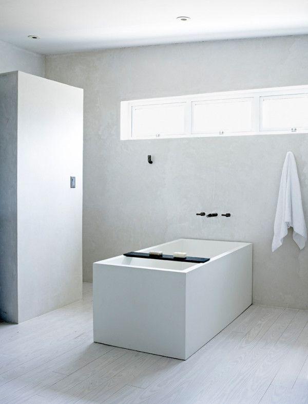 Marfa House Conversion  Japanese inspired bathroom