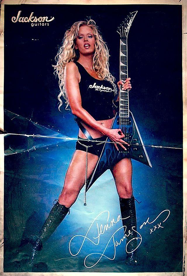 Jenna Jameson Jackson Guitars Advertising