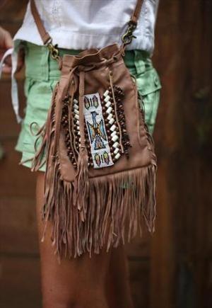 (99+) Fringed Brown Leather Festival Bag | Lindi Kingi Design | ASOS Marketplace