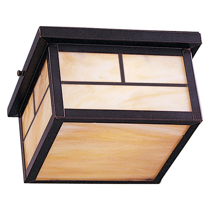 Maxim Craftsman Outdoor Flush Mount - 5.25H in. ENERGY STAR Burnished - 85059HOBU