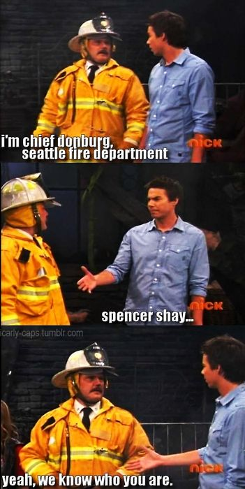 iCarly, how Spencer always made things catch on fire lol.
