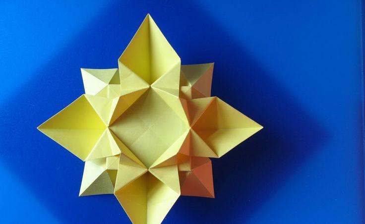 origami facile, Fiore o Stella 2, diagrammi, foto, instructions, istruzioni, Francesco Guarnieri