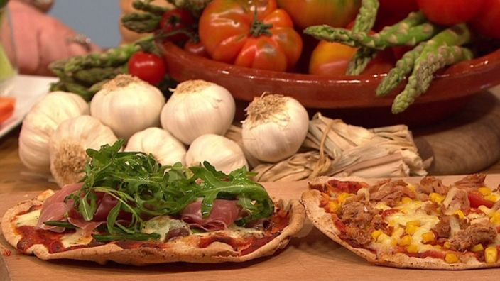 Pitta pizzas are perfect for kids