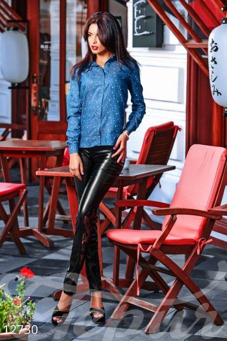 Gepur | Рубашка джинс, звезды арт. 12730 Цена от производителя, достоверные описание, отзывы, фото