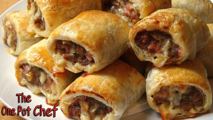 Cheesy Beef and Bacon Sausage Rolls - RECIPE
