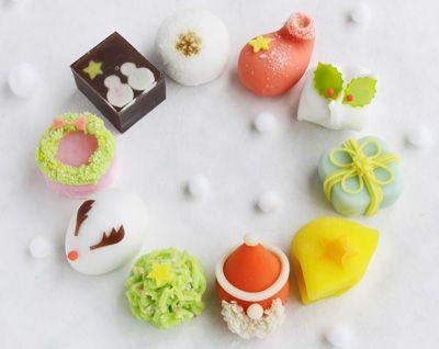 Japanese Sweets, Christmas wagashi