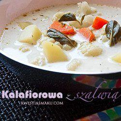Zupa kalafiorowa z ziemniakami i serem pleśniowym   Kwestia Smaku