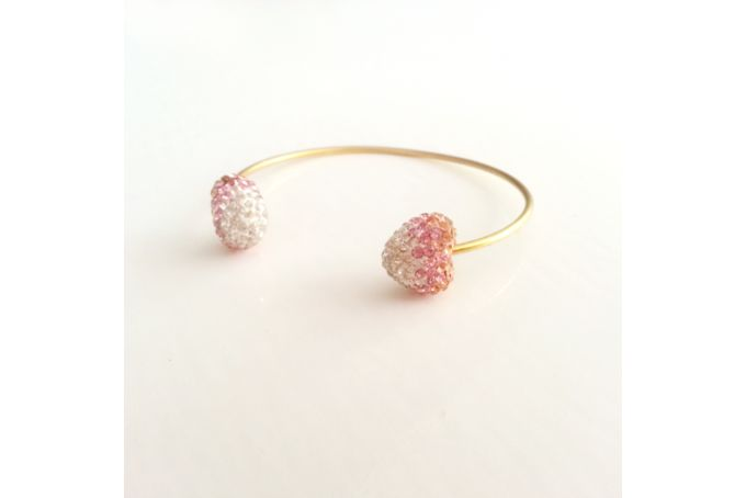 Pavé Heart Cuff Bracelet by Jewels and Lace