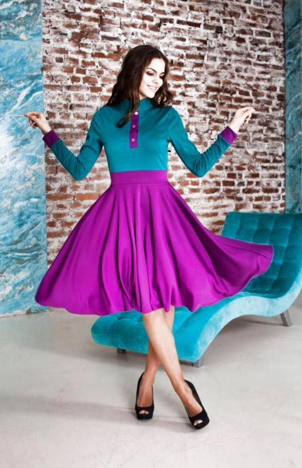 "Коллекция ""Lovely"" : Милое платье из трикотажа Джерси"