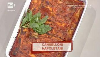 """La ricetta dei cannelloni napoletani di Anna Serpe del 5 ottobre 2016, a """"La prova del cuoco"""". Un classico della cucina napoletana."""