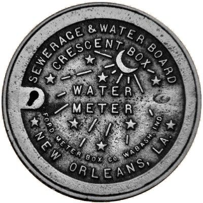New Orleans Water Meter Cover Replica Acrylic Cut Outs by NOLA artist