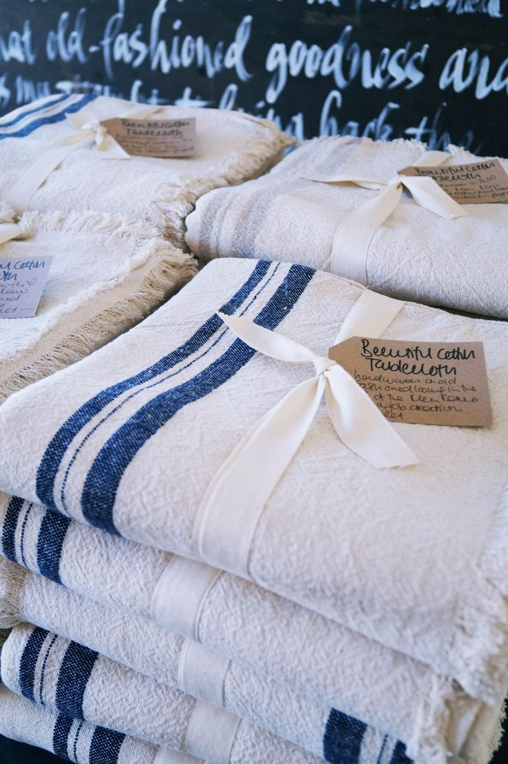 Local hand woven Linen Tablecloths from the Klein Karoo... #fabgiftidea #spoilyourself
