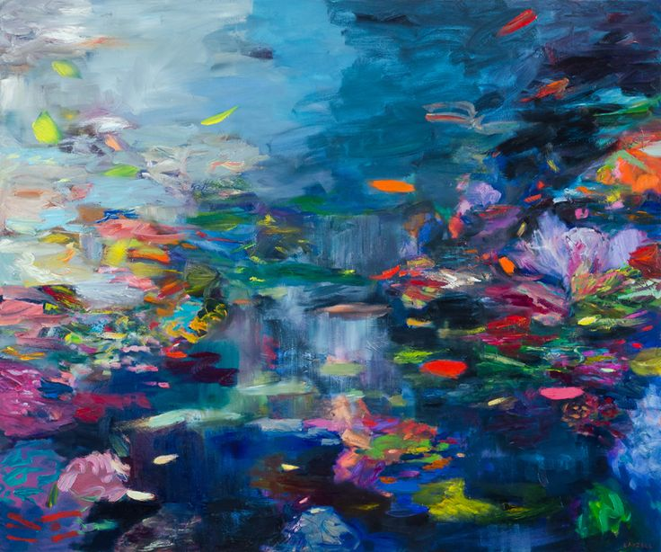 CATHY LAYZELL. Lagoon, 2015. Oil on canvas. 1500 x 1800mm. Unframed