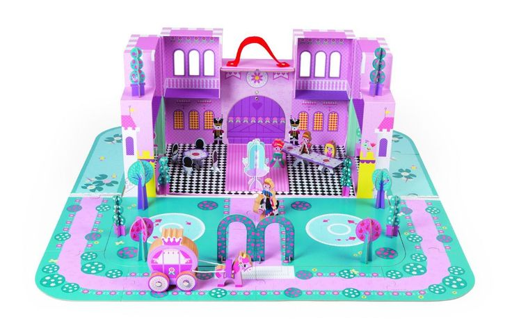 Janod Story Princess Palace Wooden Accessories Suitcase Set