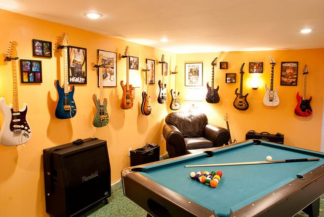 Awesome guitar room/man cave. Doug would love this if we had a room big enough.