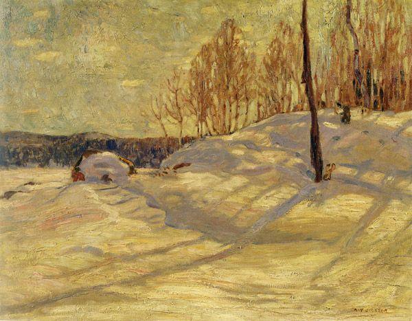 """""""Near Canoe Lake,"""" A. Y. Jackson, 1914, oil on canvas, 25 3/8 x 32 1/8"""", Art Gallery of Hamilton."""