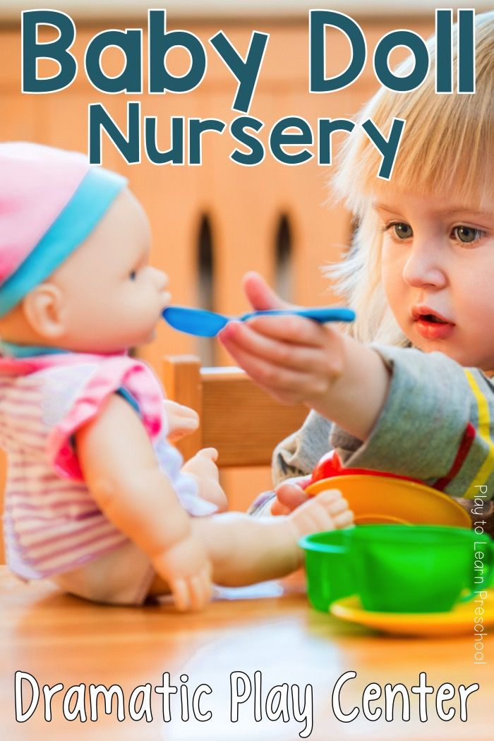 1609da7bd62b0 Young children learn to be caring, compassionate, and responsible when they  take care of the baby dolls in this Nursery Dramatic Play Center. via @ ...
