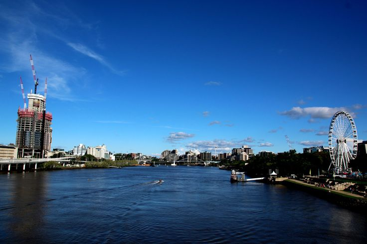 The Brisbane river.