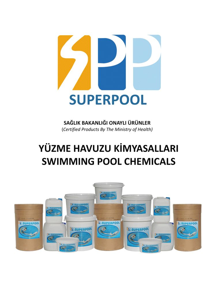 Yüzme Havuzları için T.C.Sağlık Bakanlığı onaylı kimyasallar. www.havuzmarketin.com