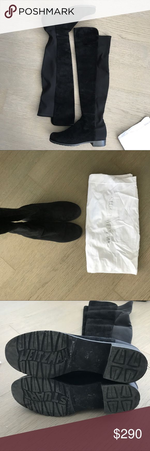 Authentic Stuart Weizman 5050 Over-The-Knee Boots Stuart Weizman signature 5050s, black suede leather, good condition, comes with dust bag, perfect for fall 🍁 Stuart Weitzman Shoes Over the Knee Boots