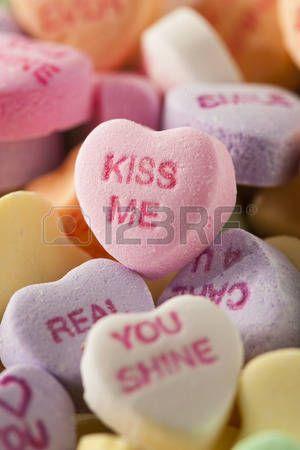 Kleurrijke Snoep Harten van het gesprek voor Valentijnsdag photo
