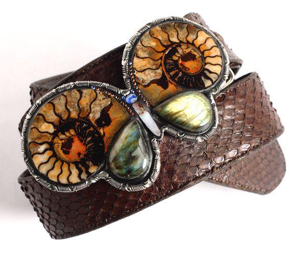 The Glamorous Life gemstone butterfly buckle on J.W. Cooper alligator belt, www.paulpearman.com