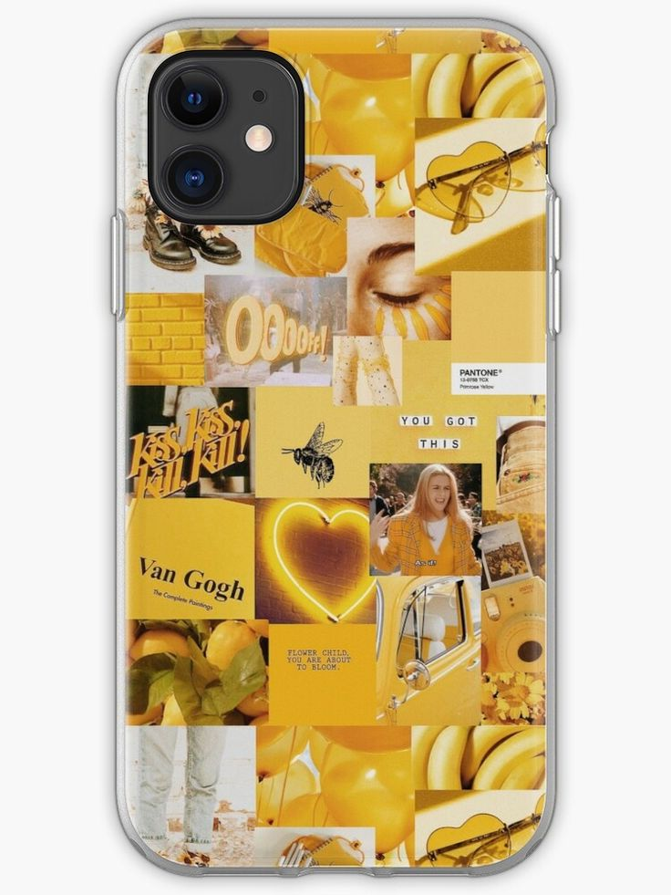 Yellow aesthetic collage iphone 11 soft by micdoom