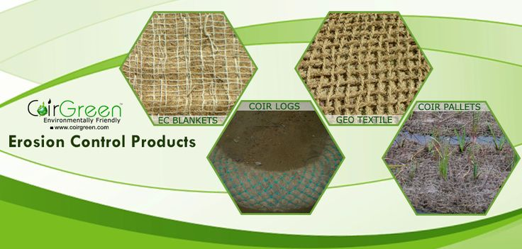 Coconut Erosion Control Blankets, Geotextiles, Coir logs, Coir pallets - Erosion control products by CoirGreen.