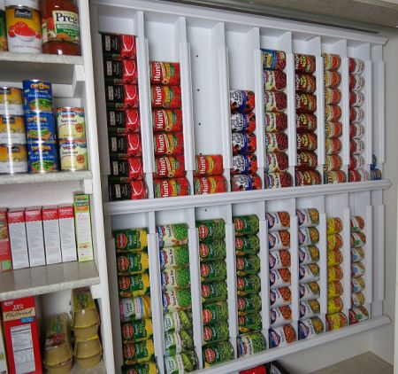 Got too many cans? Then create this functional rotating, dispenser for them in your pantry. Requires a little DIY, but it doesn't look so difficult and even the most novice of handyman or woman can make it.
