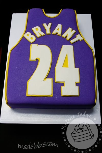 basketball lakers jersey grooms cake