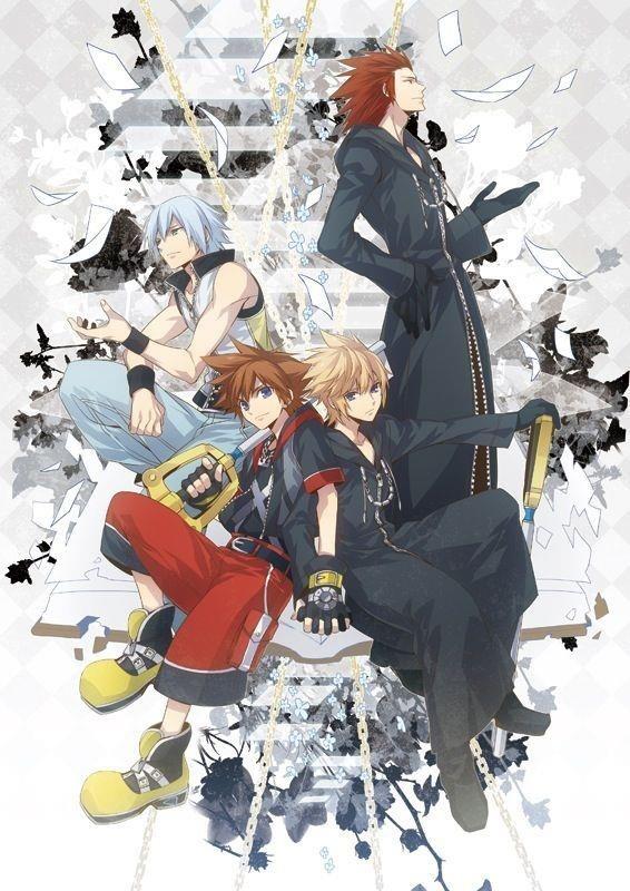 Sora, Riku, Roxas, Axel Kingdom Hearts