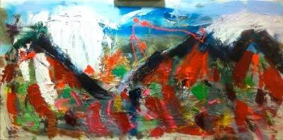 Provence Alps 3  Mixed media on canvas  100x50cm  370€