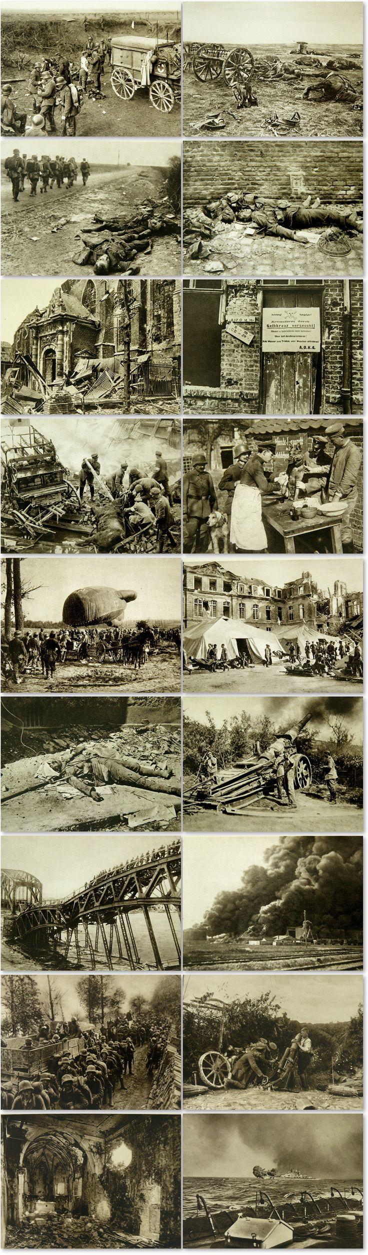 """Original photographs of WW1 in a German photo book """" Der Weltkrieg im Bild"""""""