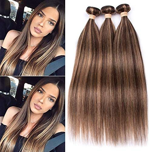 Best Seller Tony Beauty Hair Piano 4/27 Highlight Mix Color Straight Human Hair Bundles Chocolate Brown Mixed Honey Blonde Piano Color Human Hair Weave Wefts 3/4 Bundles Lot Mixed Length (12 12 12) online