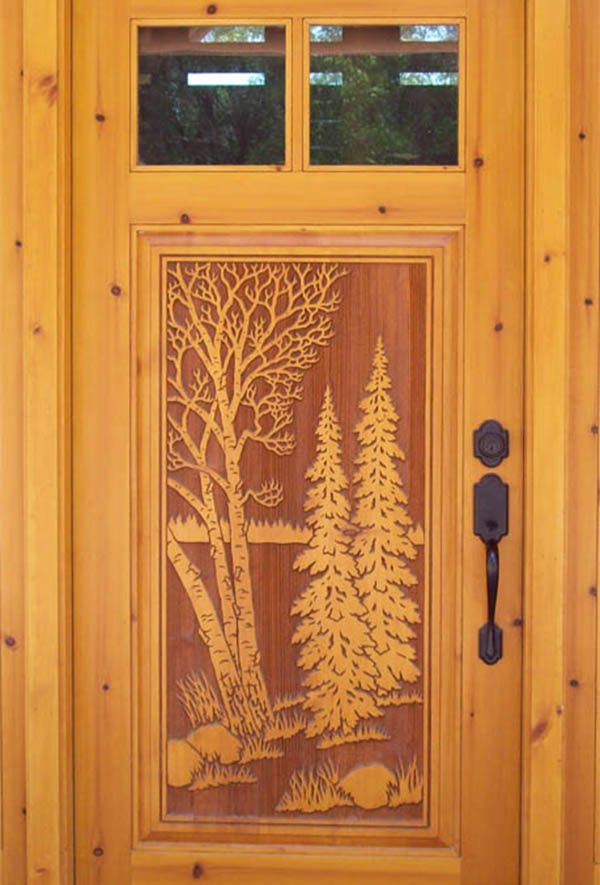 carved wooden main door