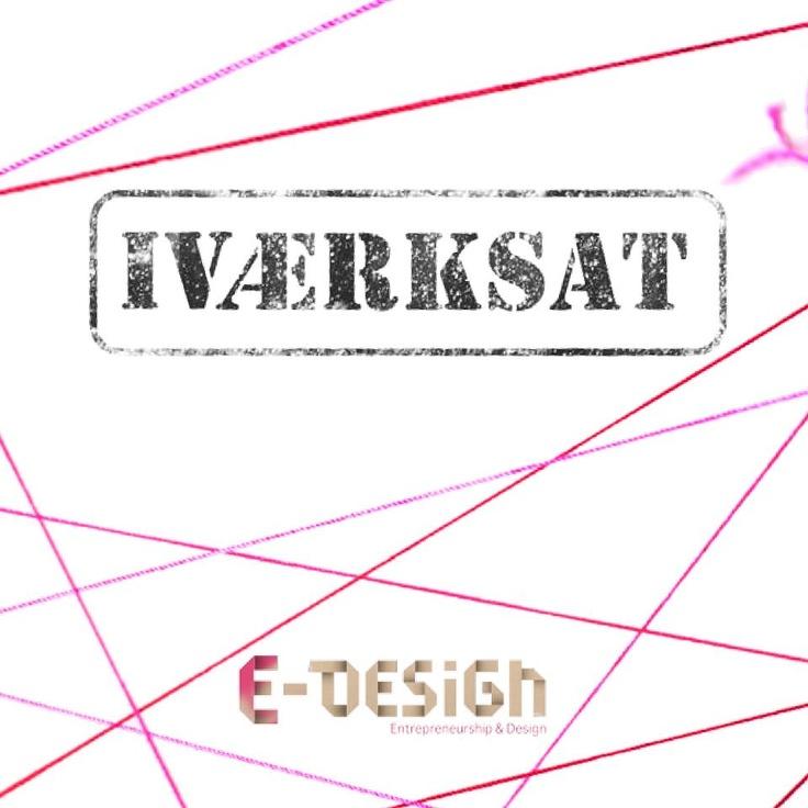 Vores film skulle hedde iværksat og her er vores forside til en folder vi skulle lave som skulle sendes ud til virksomhederne! E-design logoet er nederst så man kan se afsender!