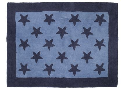 Love This For A Boyu0027s Bedroom   Blue Stars Wool Rug